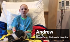 Patient at Maria Fareri Children's Hospital Joins Kids at CMN Hospitals Across the Country to Send a Message to Jimmy Kimmel!