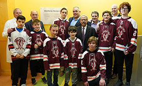 "Maria Fareri Children's Hospital and Westchester Warriors Youth Hockey Program Unveil ""Westchester Warriors Way"""